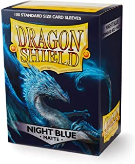 Dragon Shield Matte Night Blue Standard Size 100 ct Card Sleeves Individual Pack