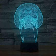 RJGOPL Creatieve Visual 3D Acryl Walrus Model Nachtlampjes LED Mammal USB Table Lamp Baby Slaap Lights Fixture Bedside Dec...