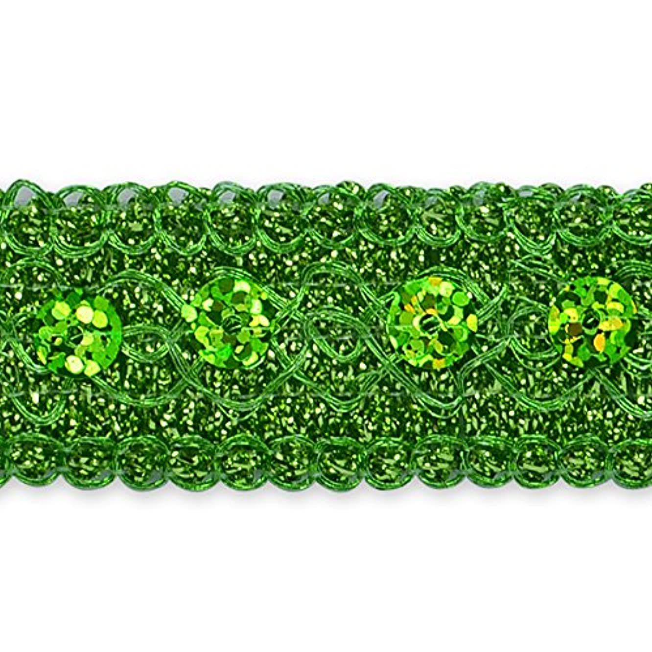 Expo IR7043LM-20 20 yds of Adriana Sequin Met Braid Trim Lime