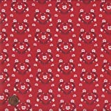 100% Baumwolle Stoff | Rot | Weihnachten - Blumenkränze in