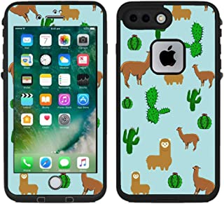 Teleskins Protective Designer Vinyl Skin Decals/Stickers for Lifeproof Fre iPhone 7 Plus/iPhone 8 Plus Case - Llama and Cactus Design Pattern - Only Skins and Not Case