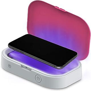 Aduro Phone Sanitizer Box U-Clean Cell Phone Cleaner UV Light Sanitizer Box Portable UV Sterilizer Box (Pink)