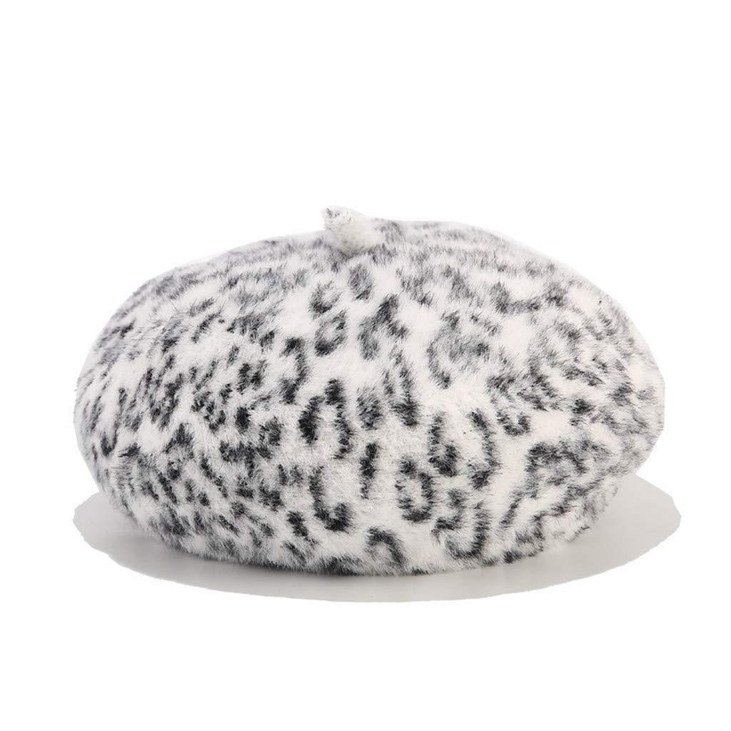 Atezch Women Wool Beret Artist Hat French Hat Casual Autumn Winter Warm Beanie Hat