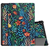 MoKo Funda Compatible con Samsung Galaxy Tab A 10.1' SM-T510/SM-T515 2019, Ultra Slim Ligera Funcin de Soporte Protectora Plegable Smart Cover Cubierta Durable Auto Sueo/Estela - Jungle Night