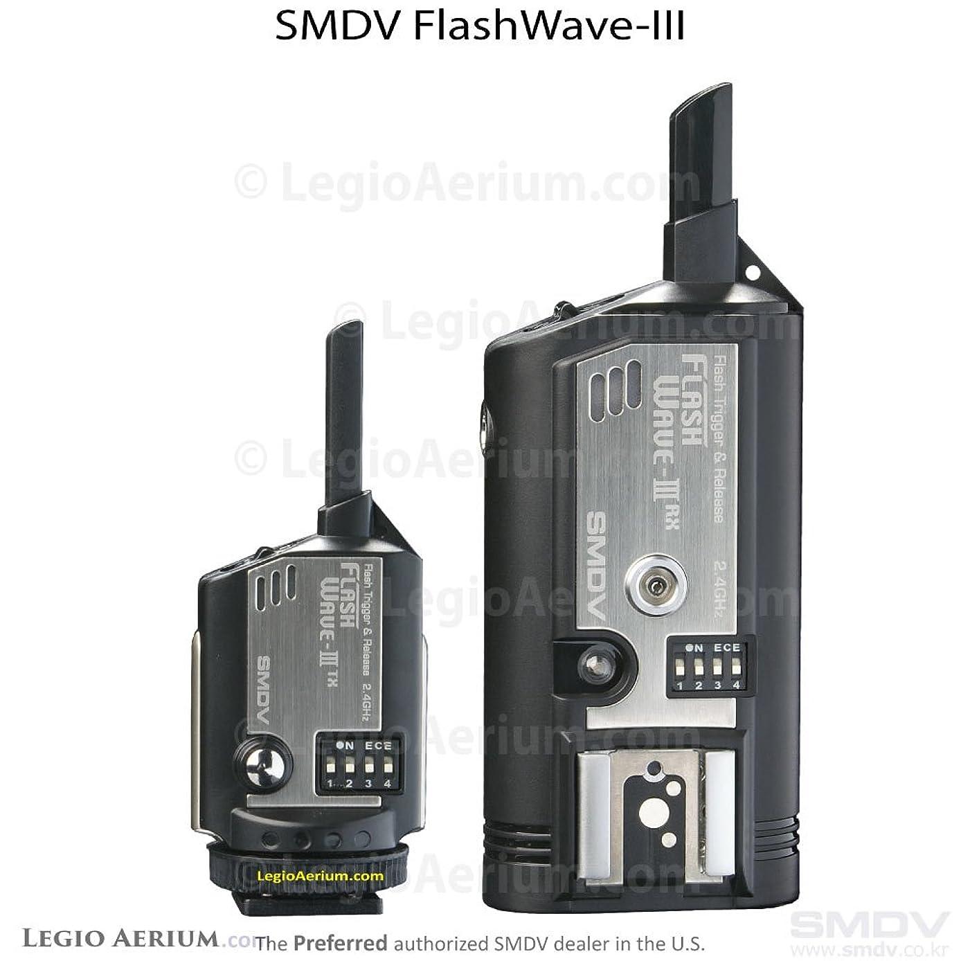 FlashWave3 Wireless Radio Slave Hot Shoe Remote Wireless Flash Trigger System - Transmitter and Receiver Set