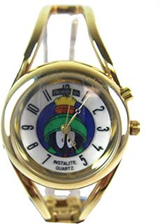 Warner Bros Looney Tunes Marvin The Martian Watch w/ Light - Cuff Band Watch