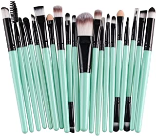 CINDIY 20 pcs Makeup Brush Set tools Make-up Toiletry Kit Wool Make Up Brush Set (Black )