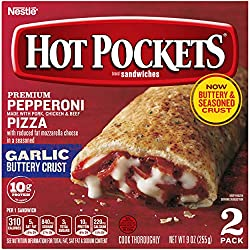 HOT POCKETS Hickory Ham & Cheddar Frozen Sandwiches 2 ct. Box | Frozen Food With Cheddar Cheese