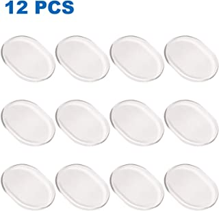 AQUEENLY Drum Dampeners, Clear Silicone Drum Dampening Gel Pads Mute for Drums Tone Adjust, 12 Piece