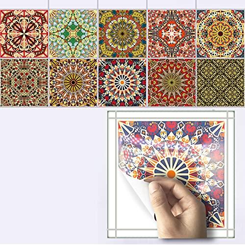 CACAIMAO Etiquetas Engomadas Creativas del Azulejo del Mosaico, Decoración del Piso del Baño De La Cocina, Etiquetas Engomadas De La Pared del Arte De Lujo Ligero 10Pcs 20cm*20cm