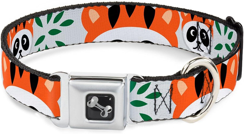 BuckleDown DCW31677M Dog Collar Plastic Clip Buckle, Panda with Tiger Hat, 1 x 1117
