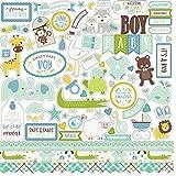 Carta Bella 12' x 12' Elements Sweet Baby Boy Cardstock Stickers, Multicolor