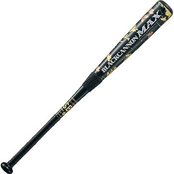 ZETT(ゼット) 軟式バット ブラックキャノン MAX ブラック(1900) 84cm 720g平均 BCT35904 野球バット バット 軟式 一般 軟式野球バット