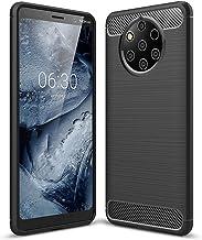 Nokia 9 PureView case, PUSHIMEI Soft TPU Brushed Anti-Fingerprint Full-Body Protective Phone Case Cover for Nokia 9 PureView Black Nokia 9 PureView