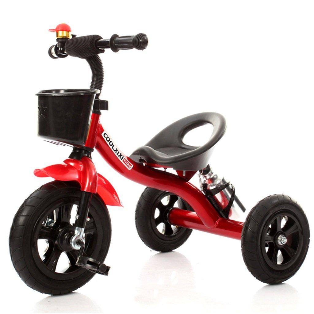 Fahion Triciclo Carro de bebé Bicicleta Niño Deporte Trike Rueda de Coche Inflable/Bicicleta de plástico Rueda Adecuado para 1-2-3-4 años (Niño/niña) (Color : Red, Tamaño : A): Amazon.es: Hogar