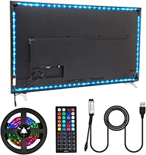 Nexlux Led Strip Lights, 9.8ft Black USB LED Strip Lights TV Backlight Kit 20 Colors TV Lights 5050 LEDs Bias Lighting wit...