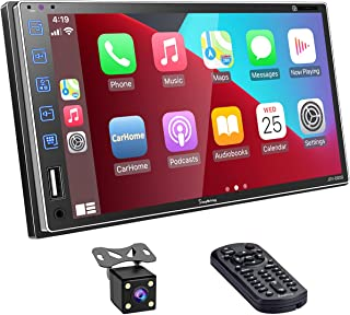 $189 » Double Din Car Stereo Compatible with Carplay and Android Auto, 7 Inch HD Screen Car Radio with Bluetooth5.1 , Mirror Lin...
