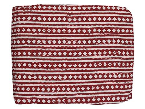 Mango Gifts Kantha-Steppdecke, indische Baumwolle, hergestellt von Artisans of India ca. 223,5 x 269,2 cm