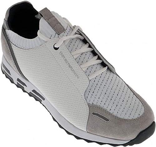 Emporio armani sneakers in pelle uomo