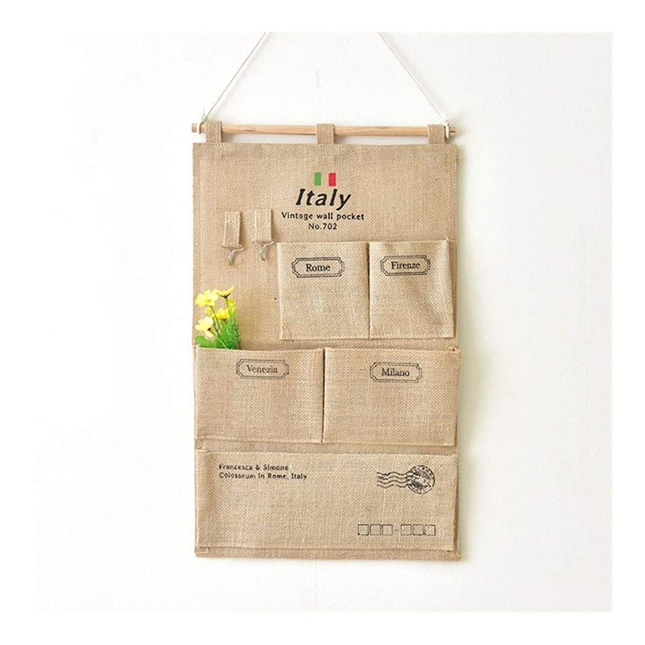ヘッドレスゆでる痛み処置 フック吊りバッグ付きホームウォールデコレーションイタリアイタリア5ポケット