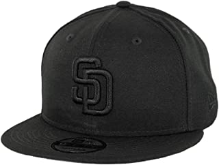 New Era San Diego Padres 9FIFTY Black on Black Team Snapback Adjustable Hat