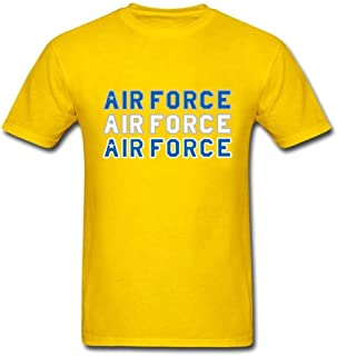 Short Sleeve Band T Shirts for Men Screw Neck Air Force Men's Tshirt