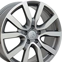 OE Wheels 18 Inch Fits Volkswagen GTI Jetta EOS CC Tiguan Rabbit Passat Golf Beetle VW Golf Style VW25 Gunmetal Machined 18x7.5 Rim Hollander 69943