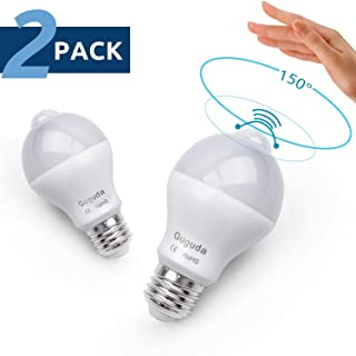 Motion Sensor Light Bulb, Guguda 7W PIR Motion Detector Light Bulbs Infrared Dusk to Dawn