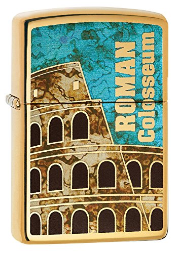 Zippo Roman Colosseum High Polish Brass Pocket Lighter