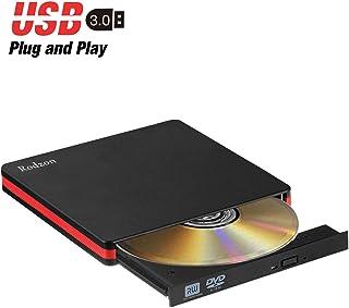 Grabadora CD/DVD Externa USB 3.0, Rodzon Unidades de CD