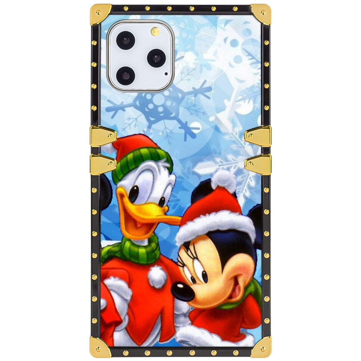DISNEY COLLECTION Square Phone Shell Case Fit for iPhone 11 Pro Max 6.5inch Miki Mouse Snowflake Winter Xmas