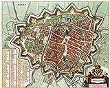 MAP Antique Van Loon Atlas City PLAN Groningen Large REPRO