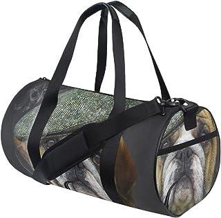HARXISE Hunderasse-Profil-IllustrationReisegepäcktasche Sport Leichte Segeltuch Fitness Gepäcktrommel Handtasche Abnehmbar
