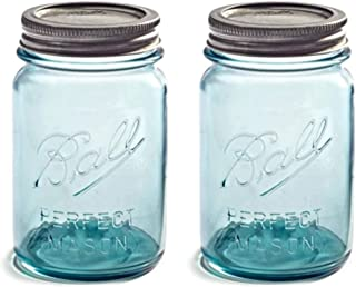 Set of 2 Vintage Aqua/Blue Ball
