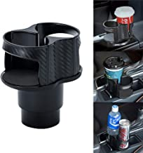 Car Cup Holder Expander, UMISKY 2 In 1 Multifunctional 2 Cup Mount Extender, Unique Design Soft Drink Can Coffee Bottle Stand Adjustable Detachable Ashtray Storage Bracket (2-IN-1)
