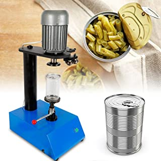 Tin Can Sealer Machine, 110V Manual Cans Sealing Machine 85mm Mold Jar Sealer Dried Fruit Container Capper Suitable for Various Kinds of Plastic Glass Paper Cans