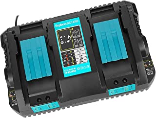 Sponsored Ad – Replacement Charger for Makita DC18RD 4Ah 14.4V-18V Dual Port Charger Compatible with MAK Battery BL1850 B ...