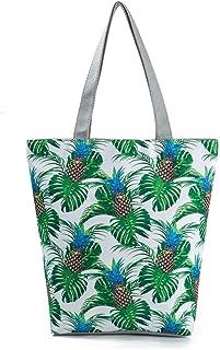 DSJTCH Large Canvas Tote Handbag For Women Fruit Printting Tote Handbag Women Summer Beach Bag Eco Reusable Canvas Shoulde...