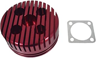 JRL CNC Cylinder Head for Racing 66cc/80cc Engine (red)