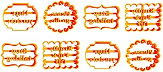 Cookie Molds With Good Wishes, Cookie Cutters Form with Fun and Irreverent Phrases, Cookie Molds with Mean Words, Cookie M...