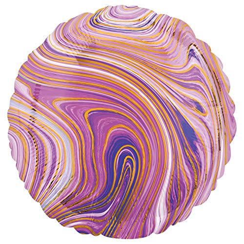 Globo de lámina de mármol de color morado con círculo estándar.