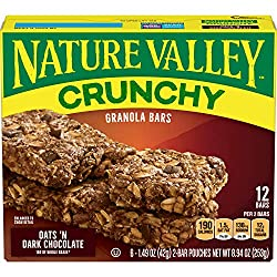 Nature Valley Granola Bars, Crunchy, Oats and Dark Chocolate, 21g, 12 Bars