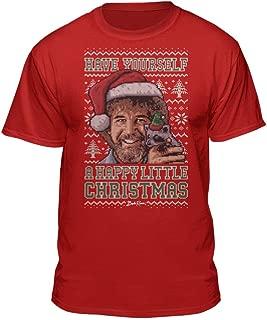 Bob Ross Happy Christmas Sweater Graphic T-Shirt