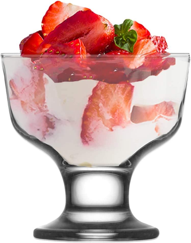 Vikko Footed Ice Cream Bowls: 7 Ounce Courier Some reservation shipping free Glass Cups For Dessert I –