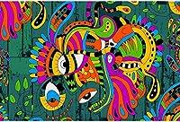 色 1000ピースジグソーパズル木製ジグソー脳チャレンジ