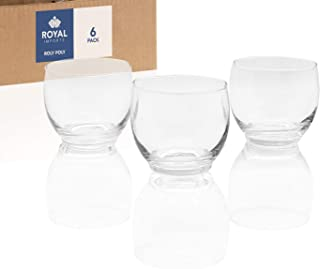 Royal Imports Candle Holder Glass Votive for Wedding, Birthday, Holiday & Home Decoration, Roly Poly, Set of 6 - Unfilled