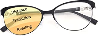 Karsaer Progressive Multifocus Reading Glasses Women Cateye Blue Light Blocking Readers Multifocal Computer Glasses