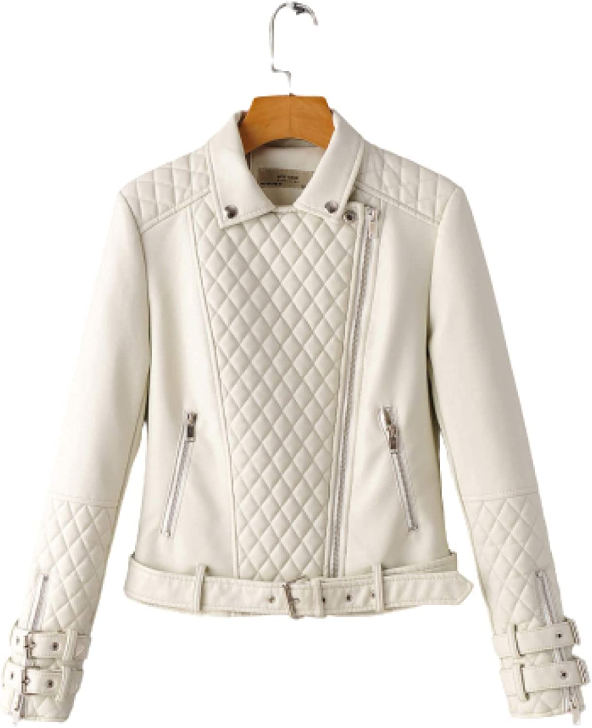 Autumn Short New mail order New sales Coat Motorcycle Jacket Pl Color Lapel Solid Fashion