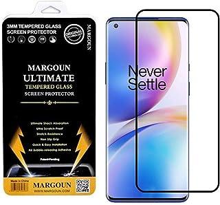 MARGOUN OnePlus Nord N10 5G Screen Protector Premium Tempered Glass 6.49 INCH (2020) film Easy Installation Frame Case-Fri...