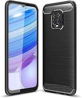 UKDANDANWEI Case for Xiaomi Redmi 10X Pro 5G, Carbon Fiber Texture Case Soft Lightweight TPU Back Cover for Xiaomi Redmi 1...